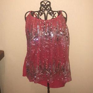 Rue21 Red sequin top